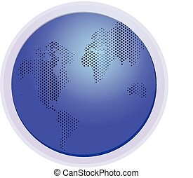 World map dots connection logo