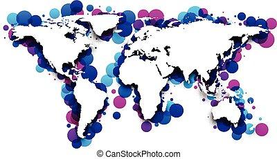 World map.
