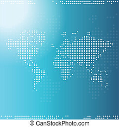 World map - Background with copy space