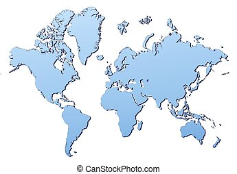 World mercator projection map countries clipart and stock world map filled with light blue gradient high resolution gumiabroncs Images