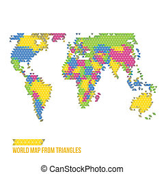 World Map From Triangles - Vector Illustration - Infographic...