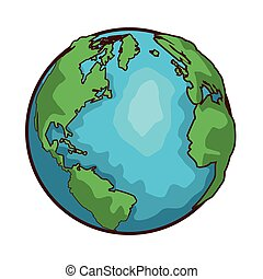 world map globe cartoon