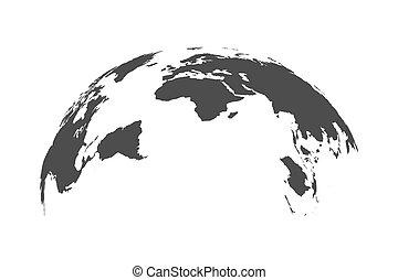 World Map Globe Isolated