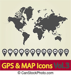 World map icon 3