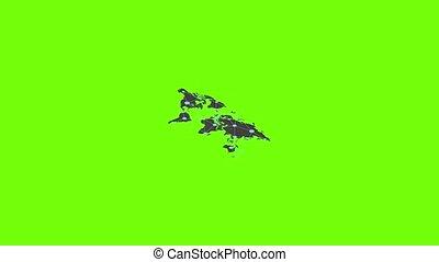 World map icon animation