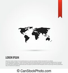 World map dotted style flat color design vectors search world map icon flat design style template for design gumiabroncs Gallery