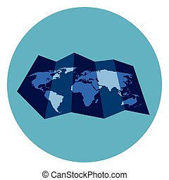World map flat icon on blue background vector illustration vector world map flat icon on blue background vector illustration gumiabroncs Image collections