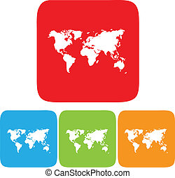 world map icon