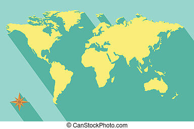 Color world map political map color world map with the clip art illustration of world map diagram in flat color gumiabroncs Images