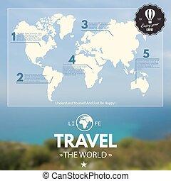 Realistic world map illustration realistic world map chalkboard world map illustration gumiabroncs Choice Image