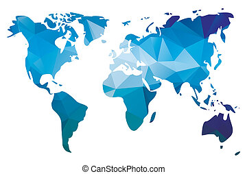 World map geometric design colorful illustration of a world world map in geometric design gumiabroncs Gallery