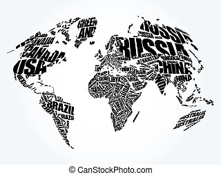 Welcome world map in typography word cloud business conceptual world map in typography word cloud gumiabroncs Image collections