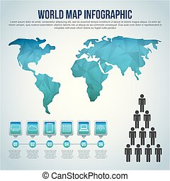 world map infographic chart population