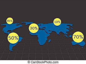 World map infographic