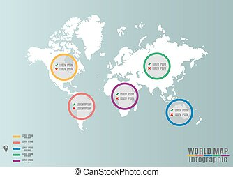 Geographic infographics world and continent map world map infographics gumiabroncs Images