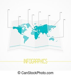 Origami world map polygonal earth vector infographics vector world map infographics vector eps10 gumiabroncs Choice Image