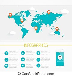 Origami world map polygonal earth vector infographics origami world map infographics vector eps10 gumiabroncs Gallery