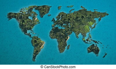 world map island