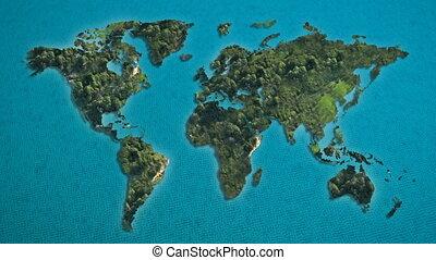world map island