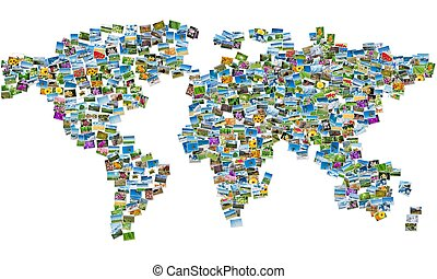 Map of india collage made of travel photos stock images search world map made of nature photos gumiabroncs Gallery