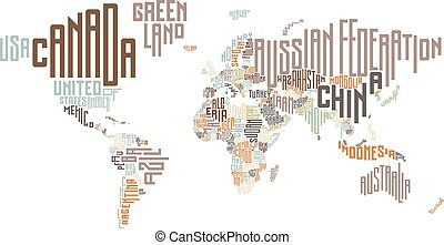 World map made of typographic country names eps vector search world map made of typographic country names gumiabroncs Images