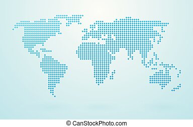 A world map made up of 3d pillars bottom layer in vector map made up of blue shapes gumiabroncs Image collections
