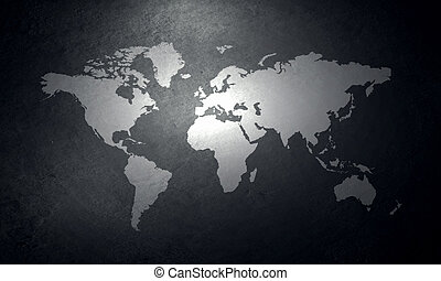 Concrete map world map carved on concrete wall stock illustration world map on concrete wall gumiabroncs Image collections