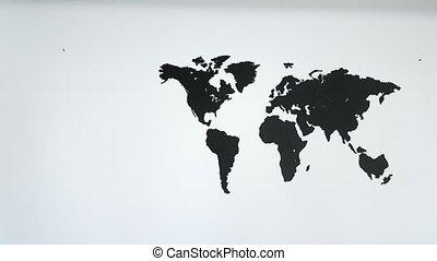 World map wraps to globe white bg world map wraps around spinning world map on the wall gumiabroncs Choice Image