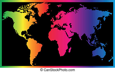 Seven continents world map asia africa north and south clipart world map gumiabroncs Images
