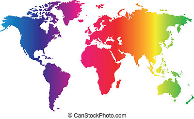 Seven continents world map asia africa north and south world map gumiabroncs Images