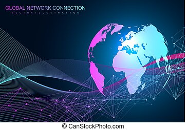 Drawing Lines In Mappoint : World map point with global technology networking concept