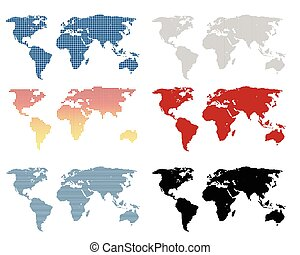 World map set