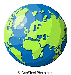 World map silhouette. Planet earth.