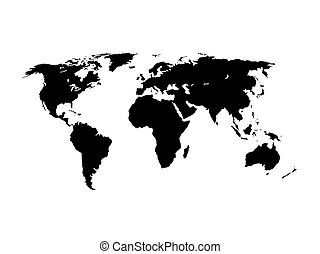 World Map silhouette vector illustration