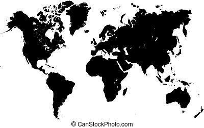 World map silhouette vector map of world grey silhouette eps world map silhouette gumiabroncs Choice Image