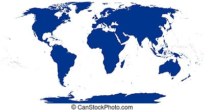 World Map Silhouette - World map silhouette. The surface of...