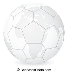 World map tennis ball on a white background vector eps vector world map soccer ball gumiabroncs Images