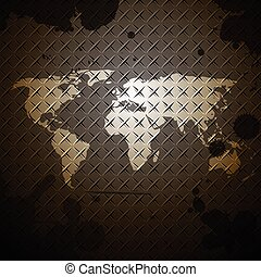 world map steel texture design background