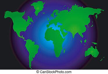 World Map - Stylized map of the world
