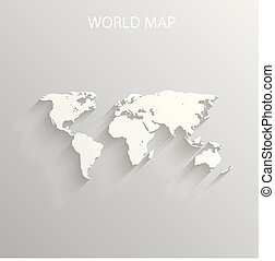 world map travel theme art