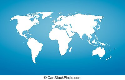 World map. Vector detail design.