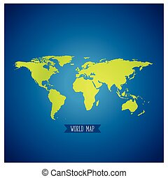 World map, vector illustration.