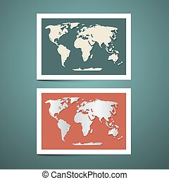 World Map Vector Set