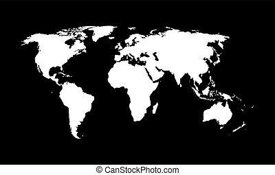 World map, vector.