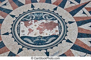 Artistic world map images and stock photos 2546 artistic world world map view of the huge world map in lisbon gumiabroncs Choice Image
