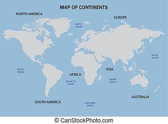 World continents world map with continents vector outline map world map with continents gumiabroncs Image collections