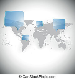 Browser windows and world map vector browser windows and world map with dialog boxes background vector gumiabroncs Image collections