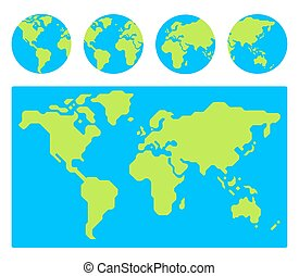 Flat globe set with eu countries world map location part 4 clip world map with globes gumiabroncs Choice Image