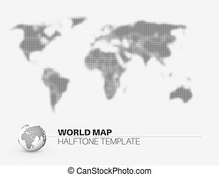World map with halftone effect