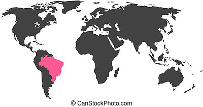 World map with highlighted india simlified political vector map in world map with highlighted brasil gumiabroncs Images